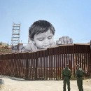 Work in progress on the Mexican side of the US/Mexico By JR