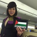 A Flight attendant Supports #Palestine! What about you?