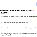 20 Questions from New Scrum Master to Product Owner