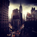New York City during a storm