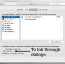 Use the Tab key for dialogs on a Mac