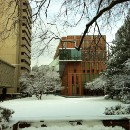 First snow at Barnard College - Winter 2010