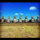 Visited old Moai heads on Easter Island