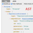 Abstract syntax trees on Javascript