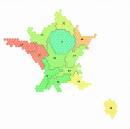 New from Tilegrams: make a hex map with France and Germany borders