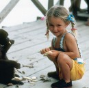 My first friend was a monkey named Billy in the Amazon jungle