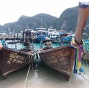 Longboats in Koh Phi Phi, Thailand