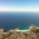 Camps Bay from Table Mountain. Cape Town, South Africa.