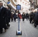 A robot is tele-transporting music fans to Sanremo, the Italian music festival.
