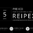 5 days left before the start of the Pre-ICO Reipex project!
