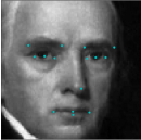 Detecting facial features using Deep Learning