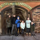 The kids got to eat at one of the oldest restaurants in Europe.