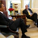 """Obama and Axelrod look back at """"that hopey changey thing"""""""