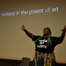 The power of love: artist and activist Vanessa German performs at the Wellin