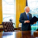 Pence Uses President's Foreign Trip To Change Locks On White House Doors