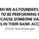 Some lessons from fundraising.