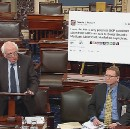Bernie Commandeers a Trump Tweet