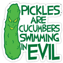 Saving our bacon with evil cucumbers