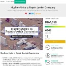 Muslims raised $161993 (and counting!) for Missouri's vandalized Jewish cemetery.