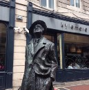 Here's the famous James Joyce statue on Earl Street North.
