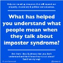 Imposter syndrome: what people mean