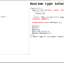 Runtime type information for JavaScript