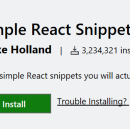 Simple React Snippets For Visual Studio Code