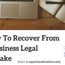 How To Recover From a Business Legal Mistake