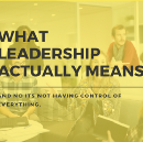 What leadership actually means