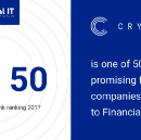 Crypterium is in the Top 50 Digital Only Banks Ranking 2017