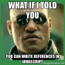 Learning how references work in JavaScript