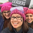 Tech Ladies and their daughters went marching this weekend