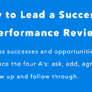 How to Lead A Productive Performance Review