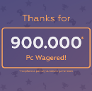 PlayBets platform has already more than 900.000 PlayBets Coins Wagered!🎮