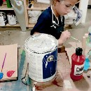 Why I don't open cans of paint for little kids.