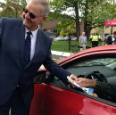 Why do police in this Canadian town hand out tickets for good driving?