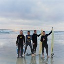 Surfing for the First Time in the Pacific Ocean