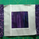 Purple and white quilt—no title yet