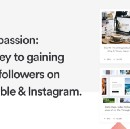 Your passion: The key to gaining 15K+ followers on Dribbble & Instagram.