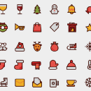 40 Free Winter and Christmas Icons