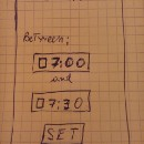 Rapid prototyping for an alarm clock