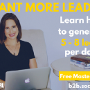 [Mod Girl News] B2B Lead Generation Masterclass Announced for October 3 and 5