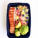 Fruity Quinoa and Grilled Salmon