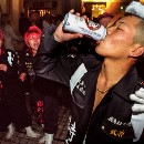 Photos: One Japanese motorcycle gang's festive police riot