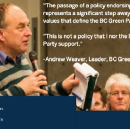 The leader of the BC Green Party just did something unprecedented…