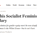 Why This Socialist Feminist Thinks This Other Socialist Feminist is Full of Shit