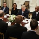 President Trump casually endorses war crimes during White House meeting with airline execs