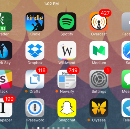 My home screen has begun to ossify
