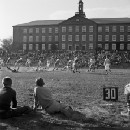 In these 1940s pictures, the real heart of American football was on the high school field