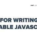5 Tips For Writing More Maintainable JavaScript Code
